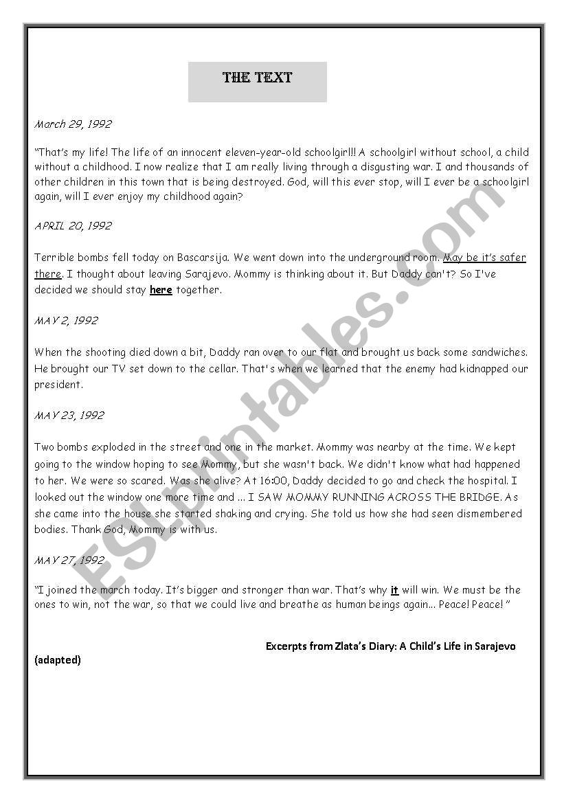 end-term test n2 (1st year) - ESL worksheet by chaymouma