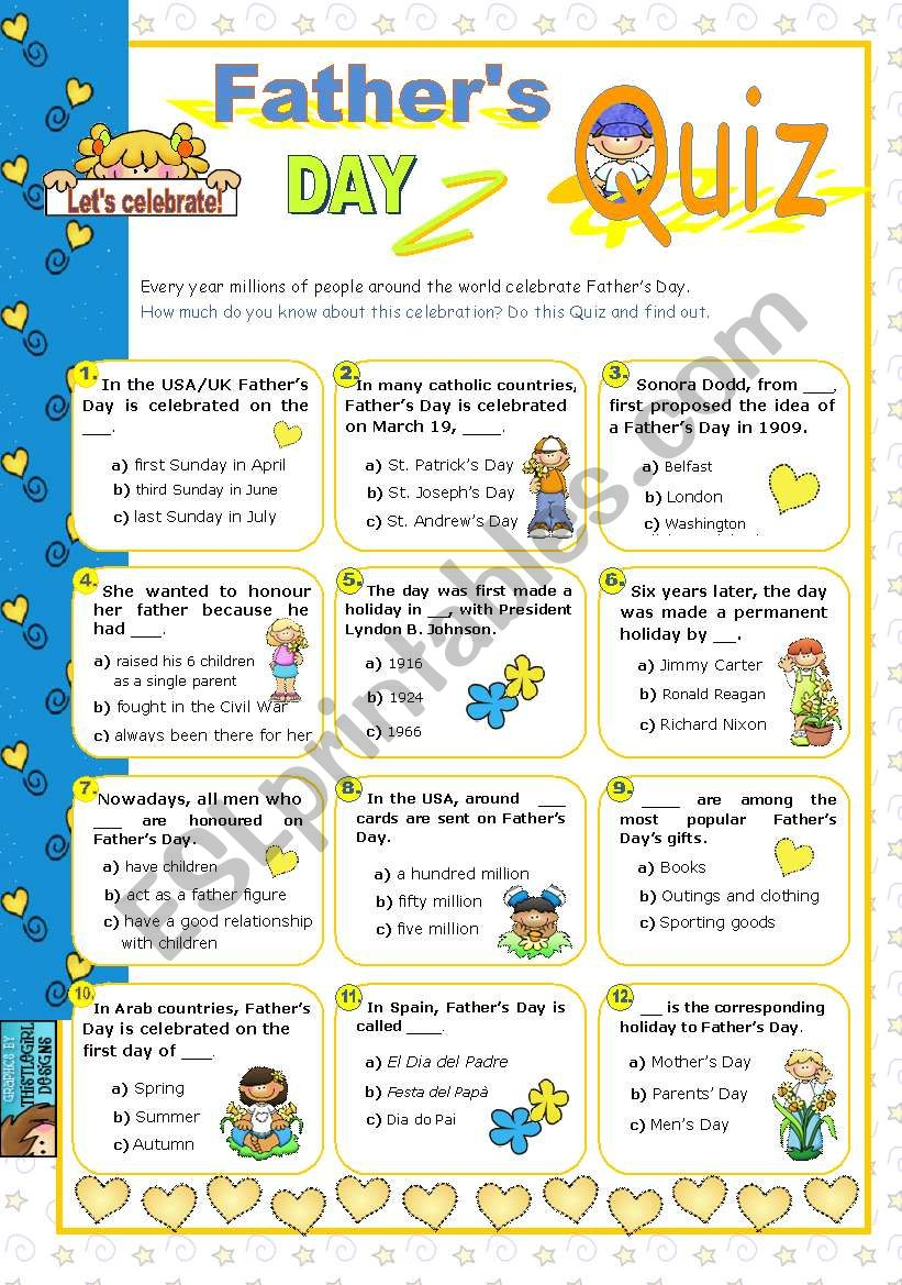 Father´s Day  Quiz worksheet