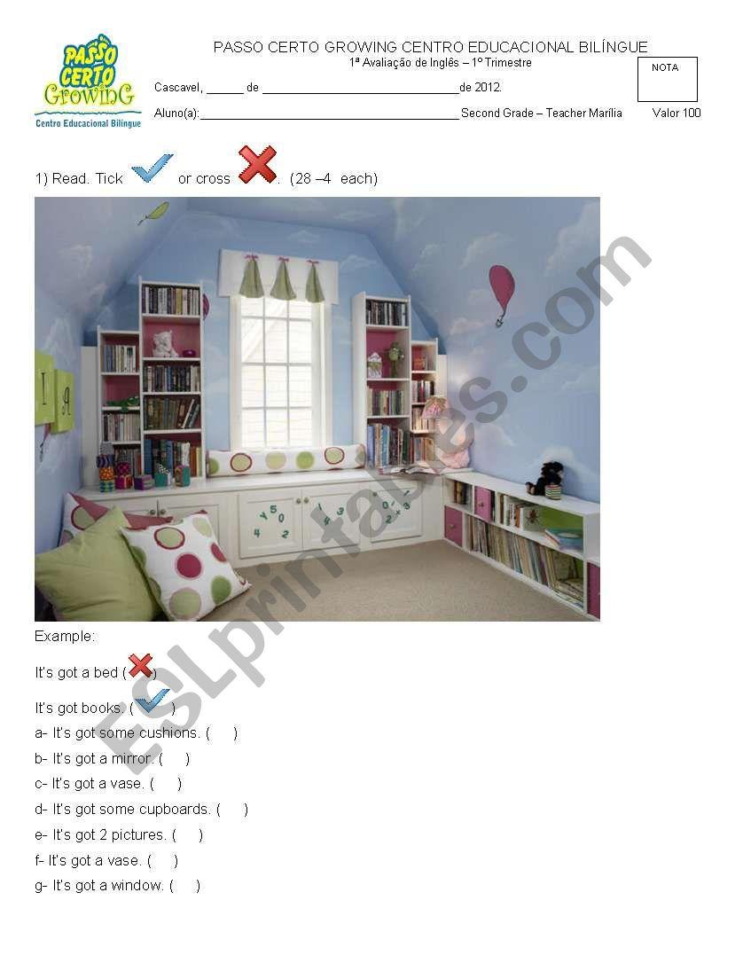Incredible English 2 test worksheet