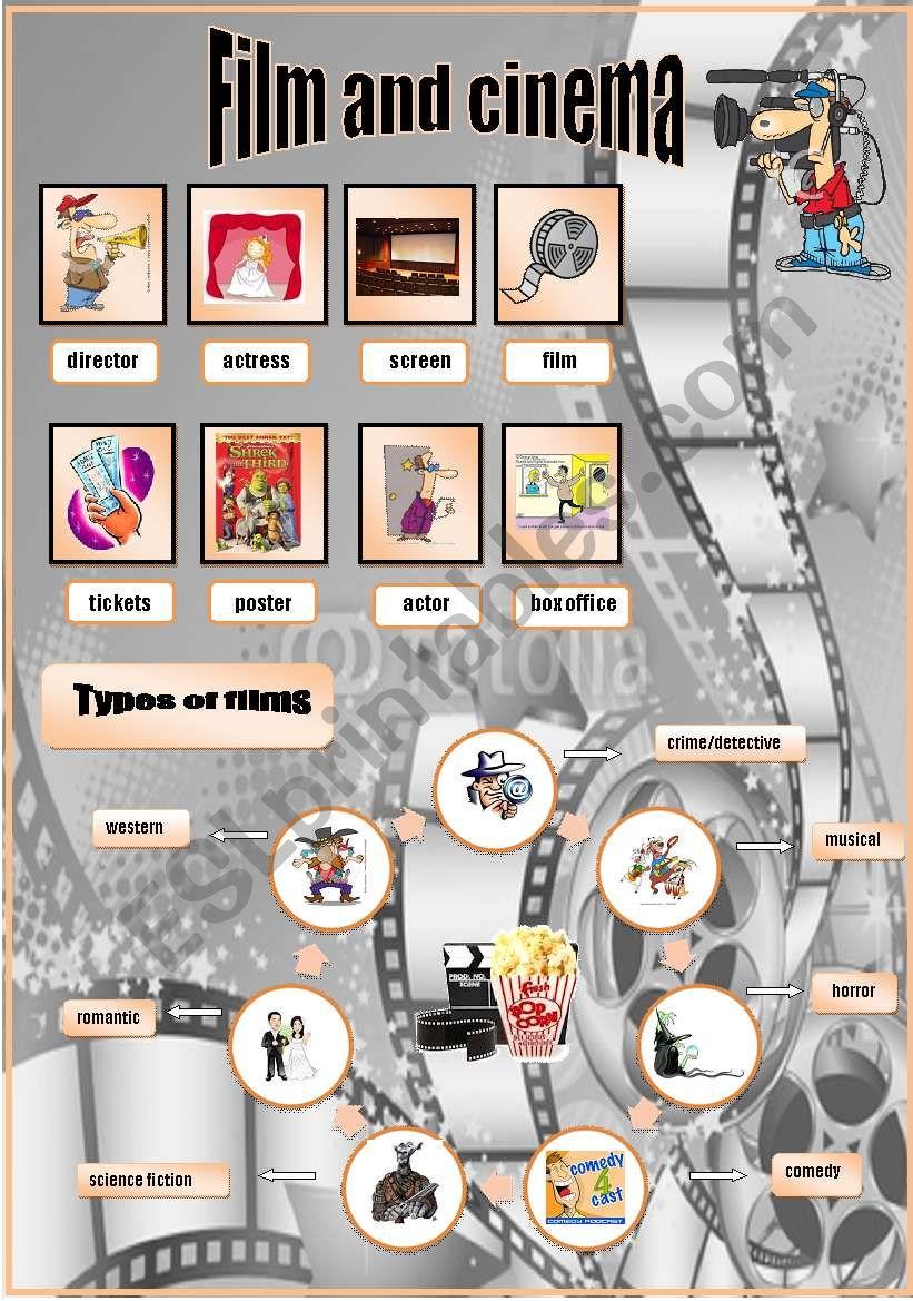 Film and cinema worksheet