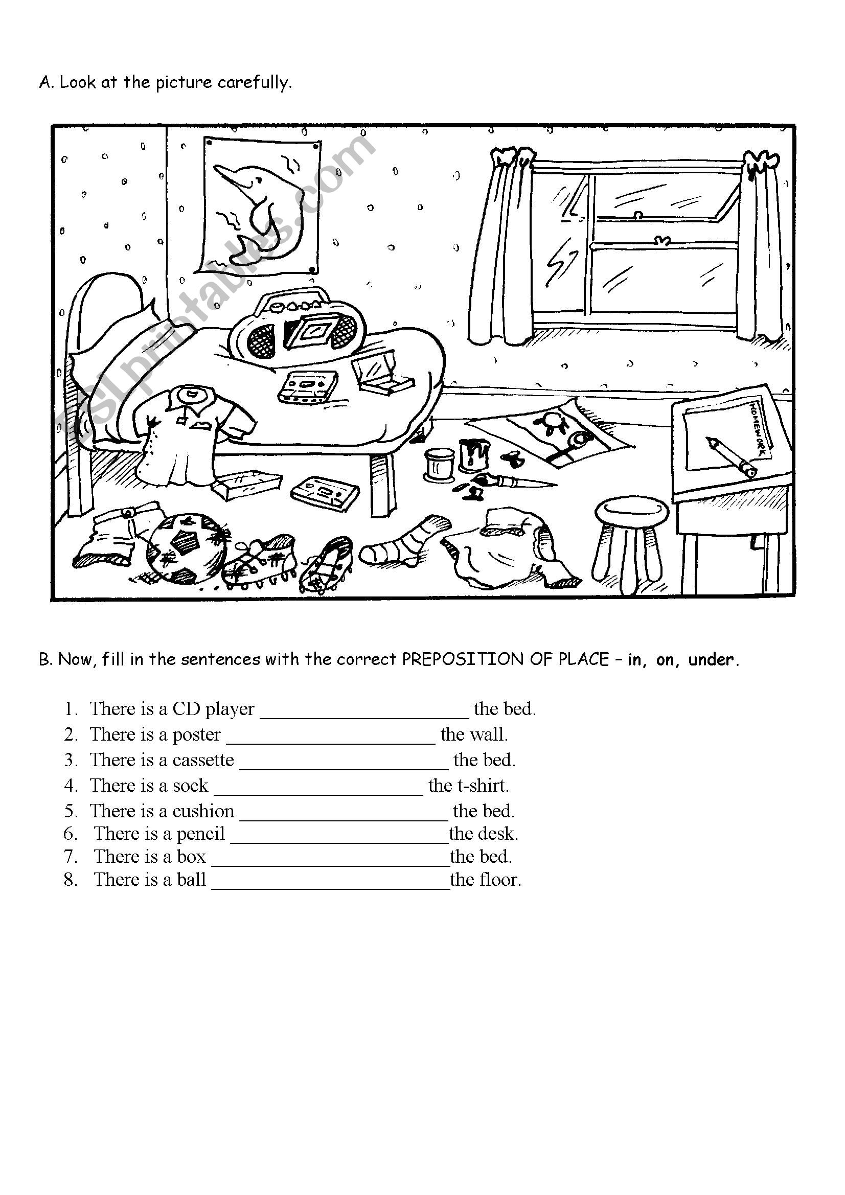 It is a photo of Satisfactory Printable List of Prepositions