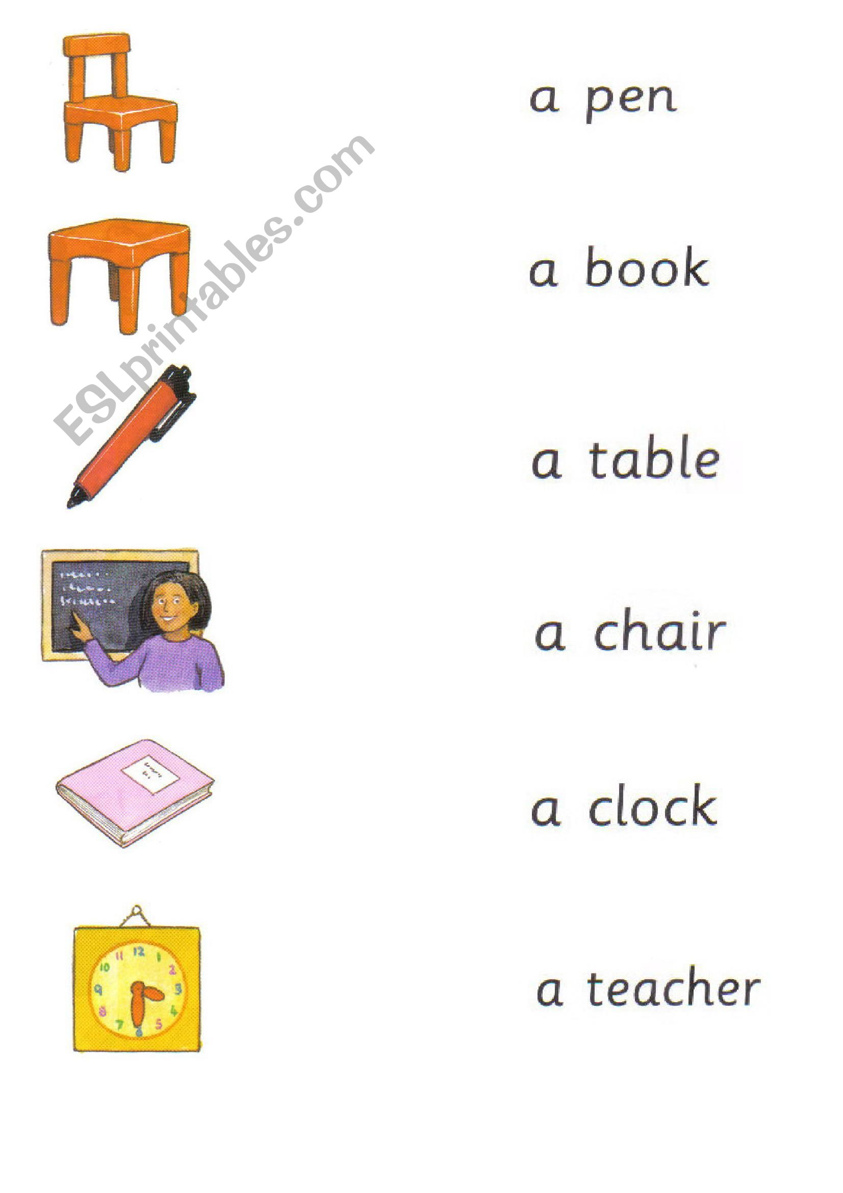 Happy House 2 school objects worksheet