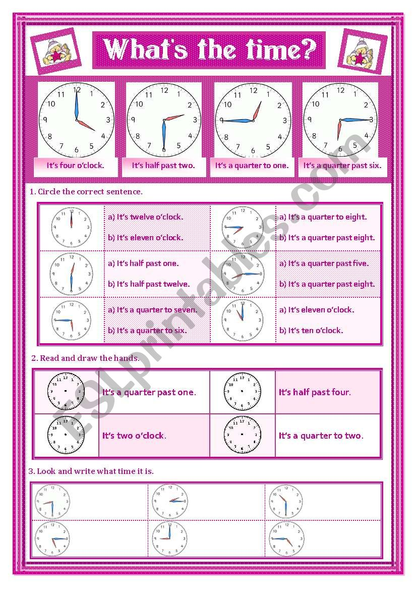 WHAT´S THE TIME worksheet
