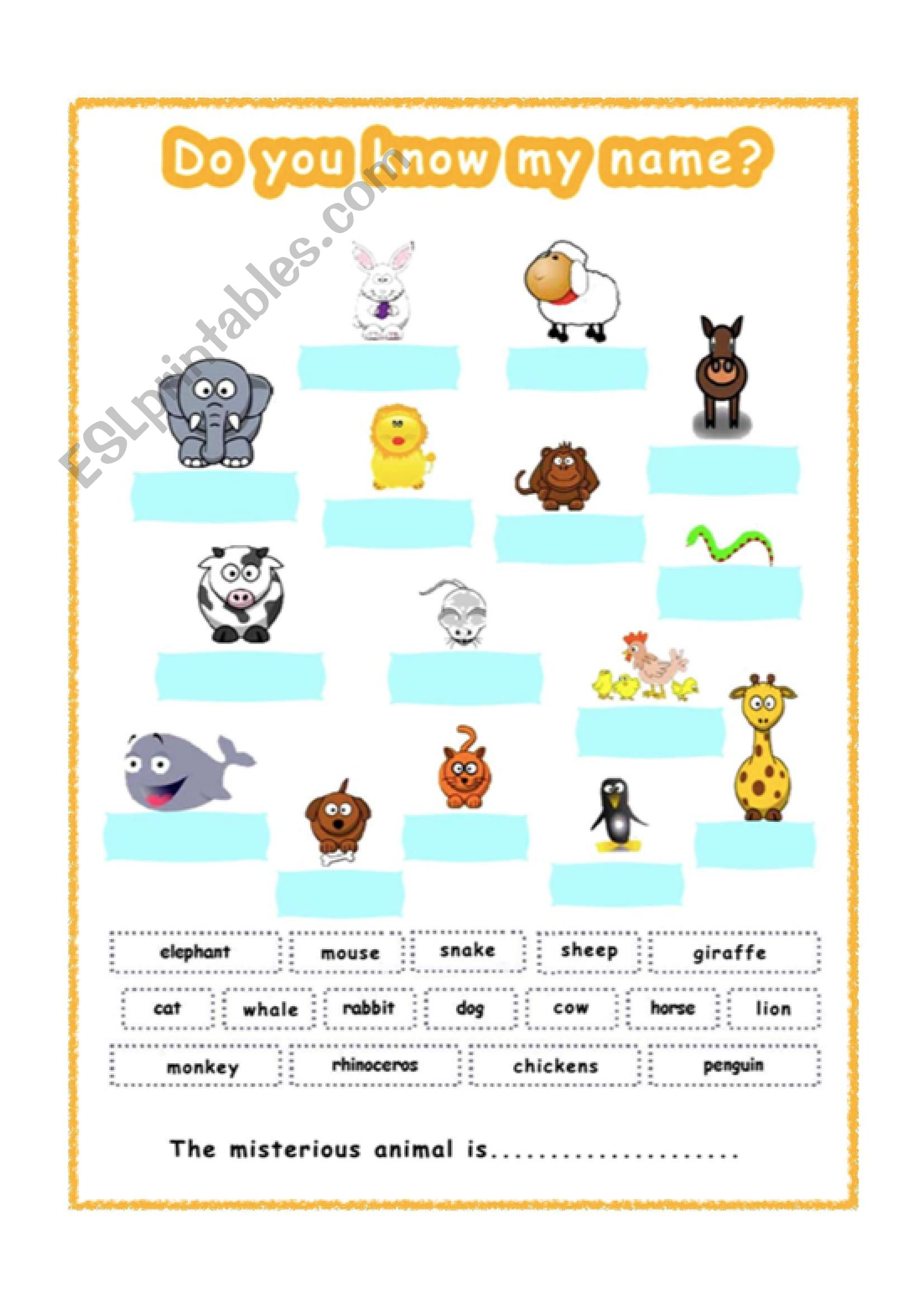 english worksheets animals for gese grade 1 2. Black Bedroom Furniture Sets. Home Design Ideas
