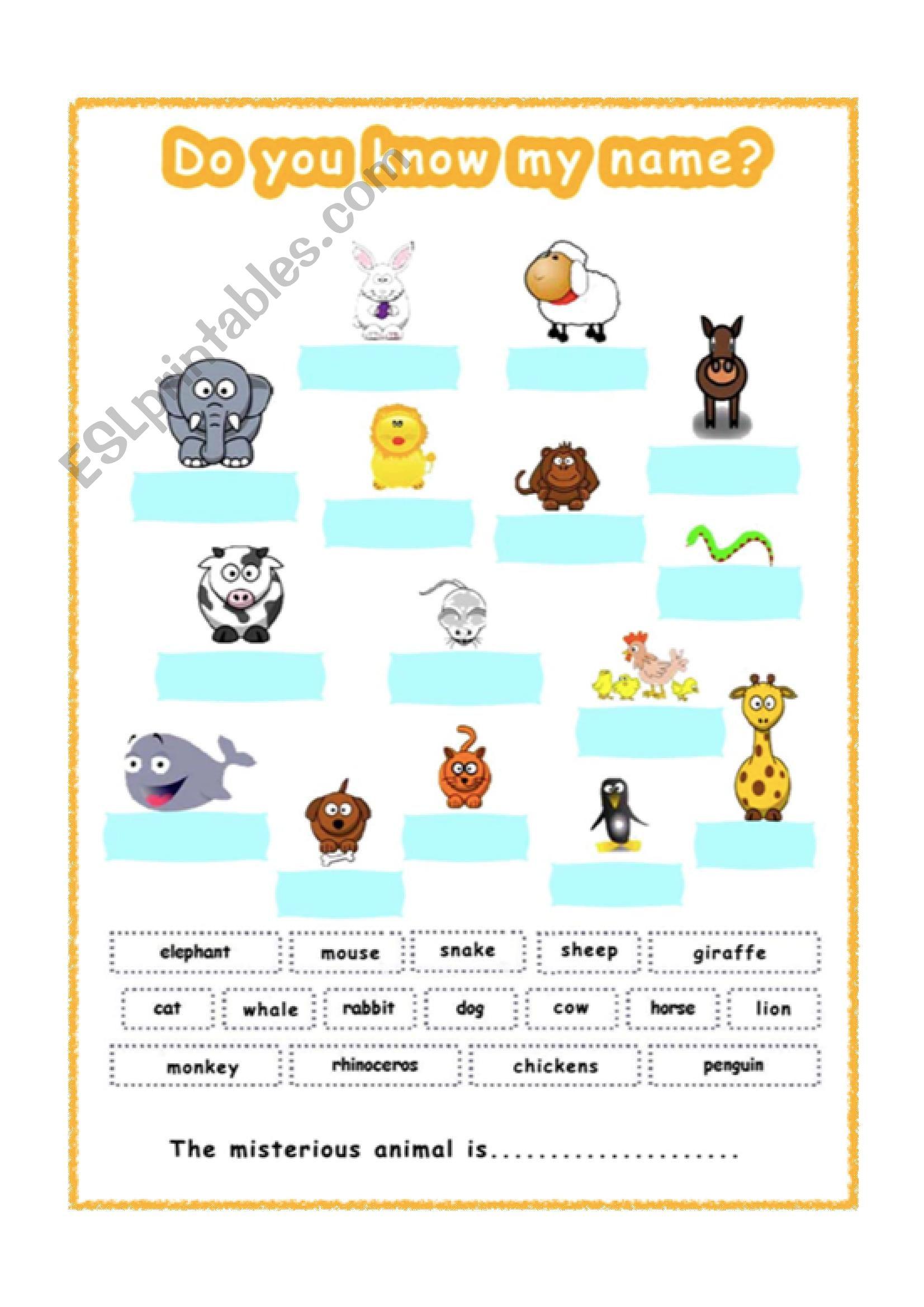english worksheets animals for gese grade 1 2. Black Bedroom Furniture Sets. Home Design Ideas