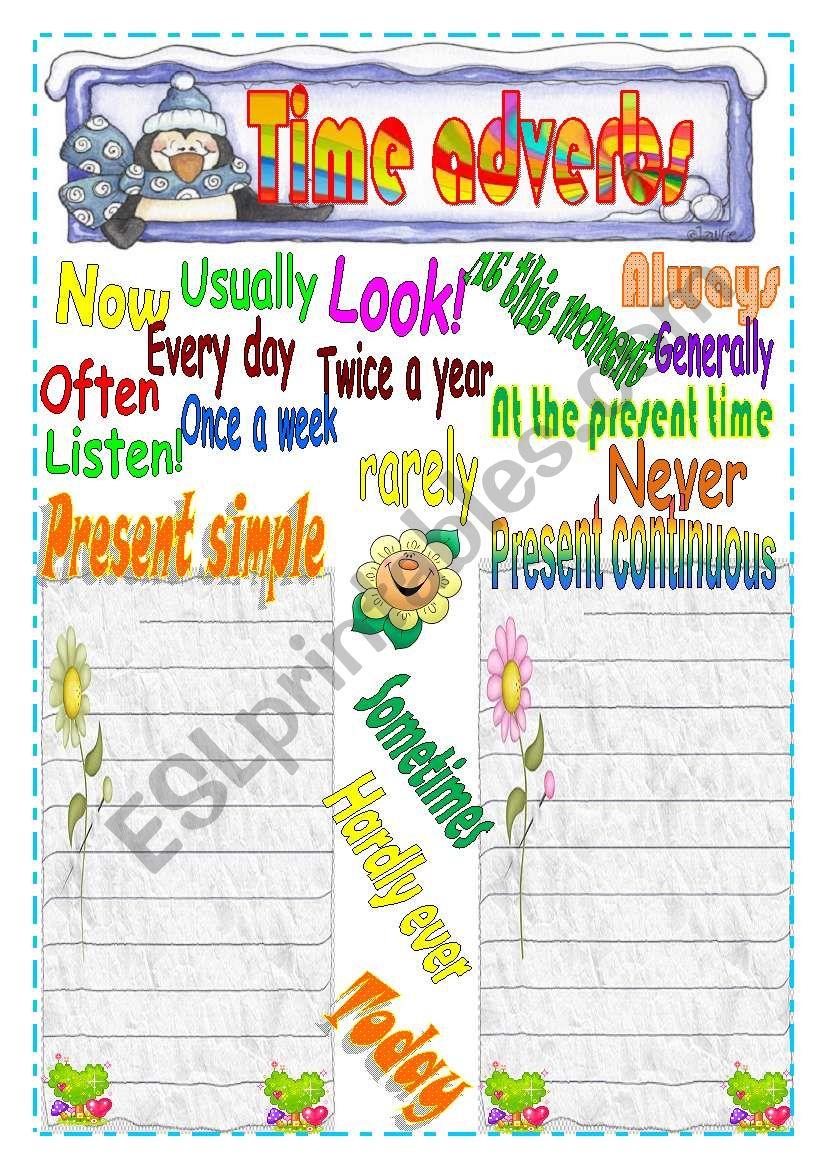 Adverbs of time worksheet