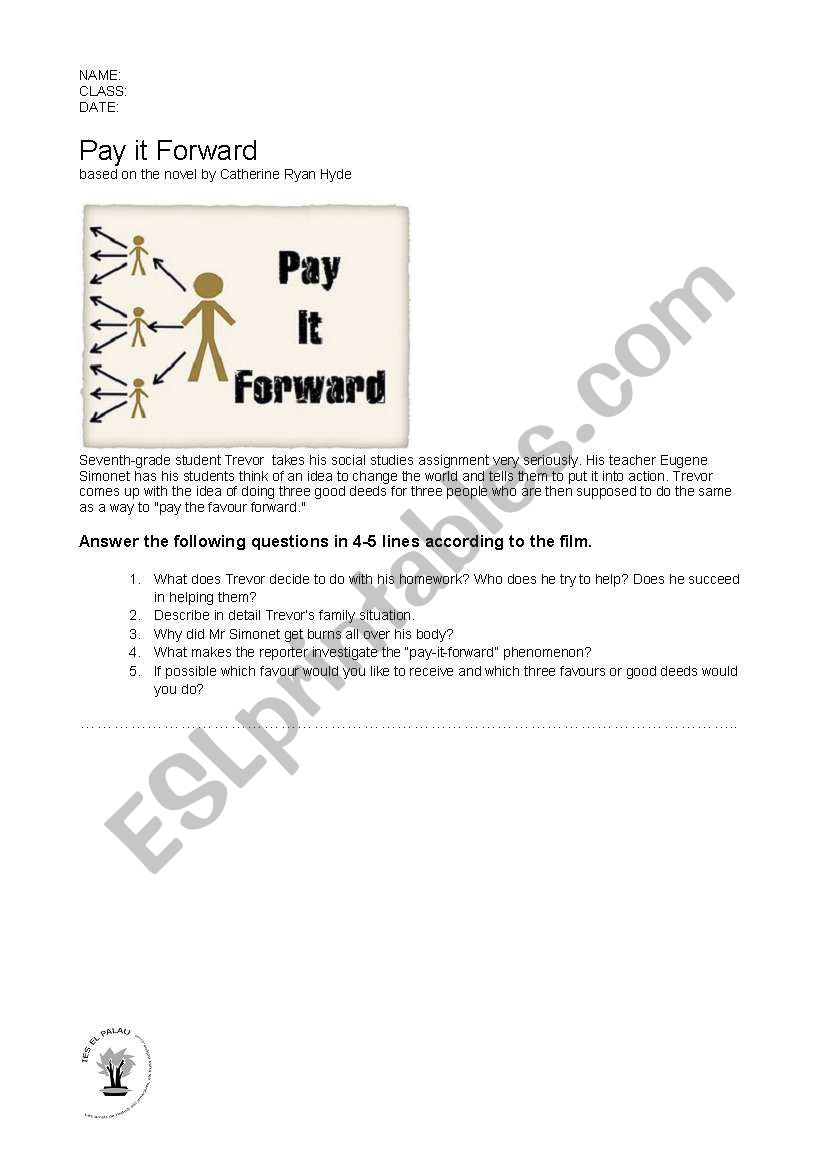 Pay it forward essay contest