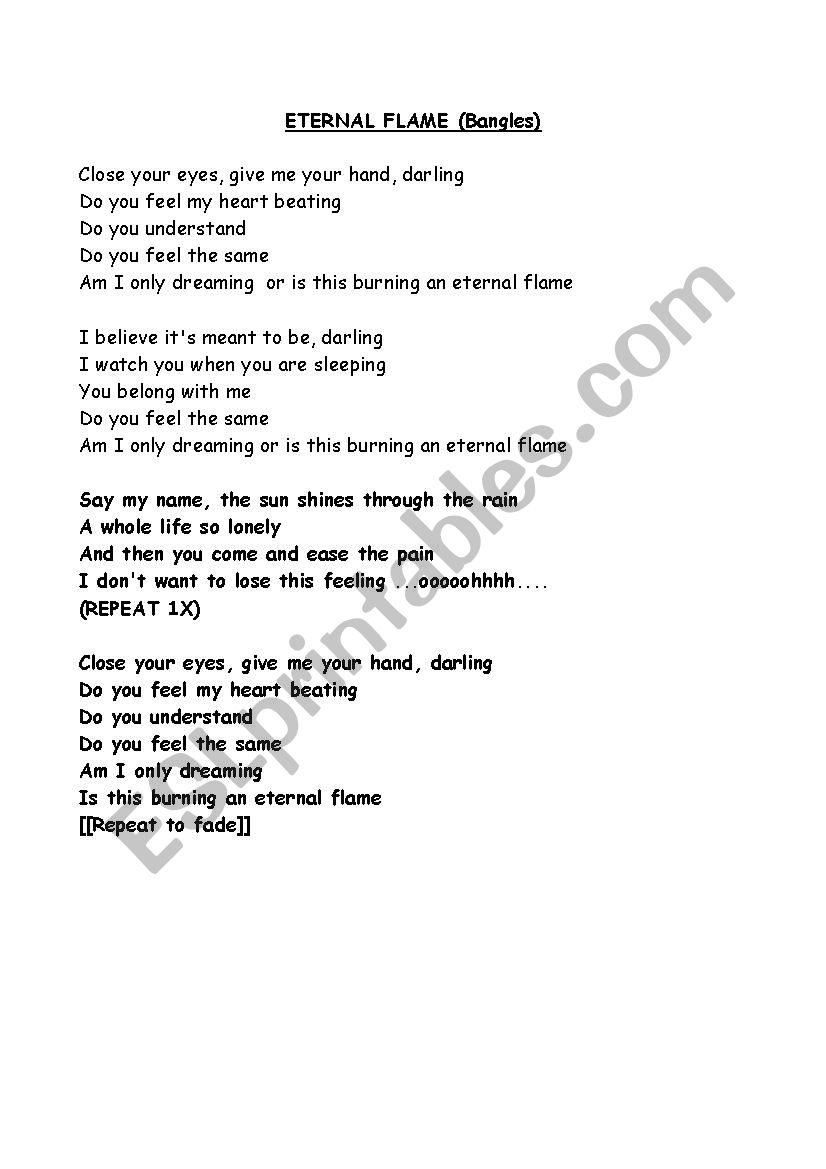 eternal flame song free mp3 download