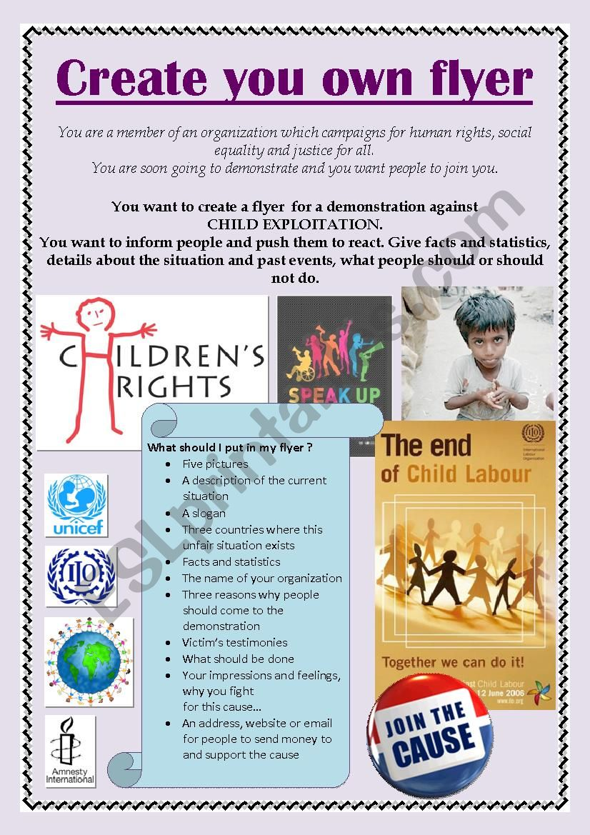 Child Labour - Create your own flyer