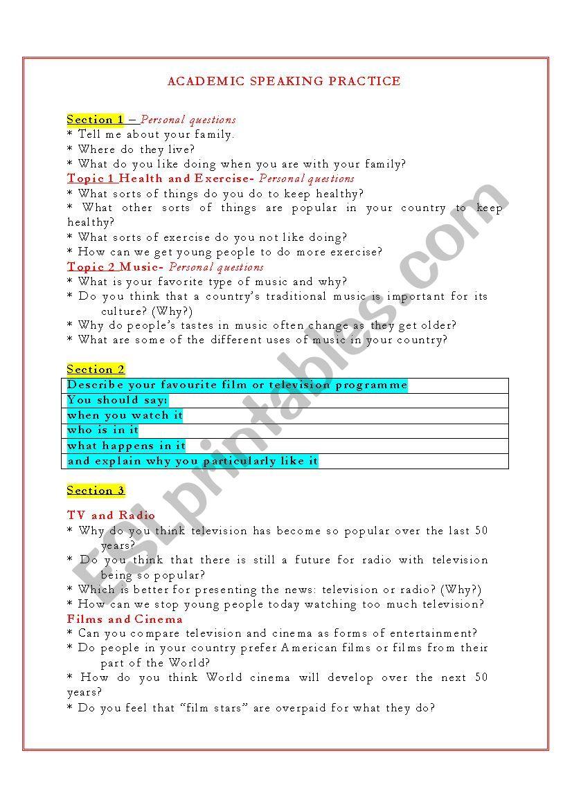 IELTS ACADEMIC SPEAKING PRACTICE_2012