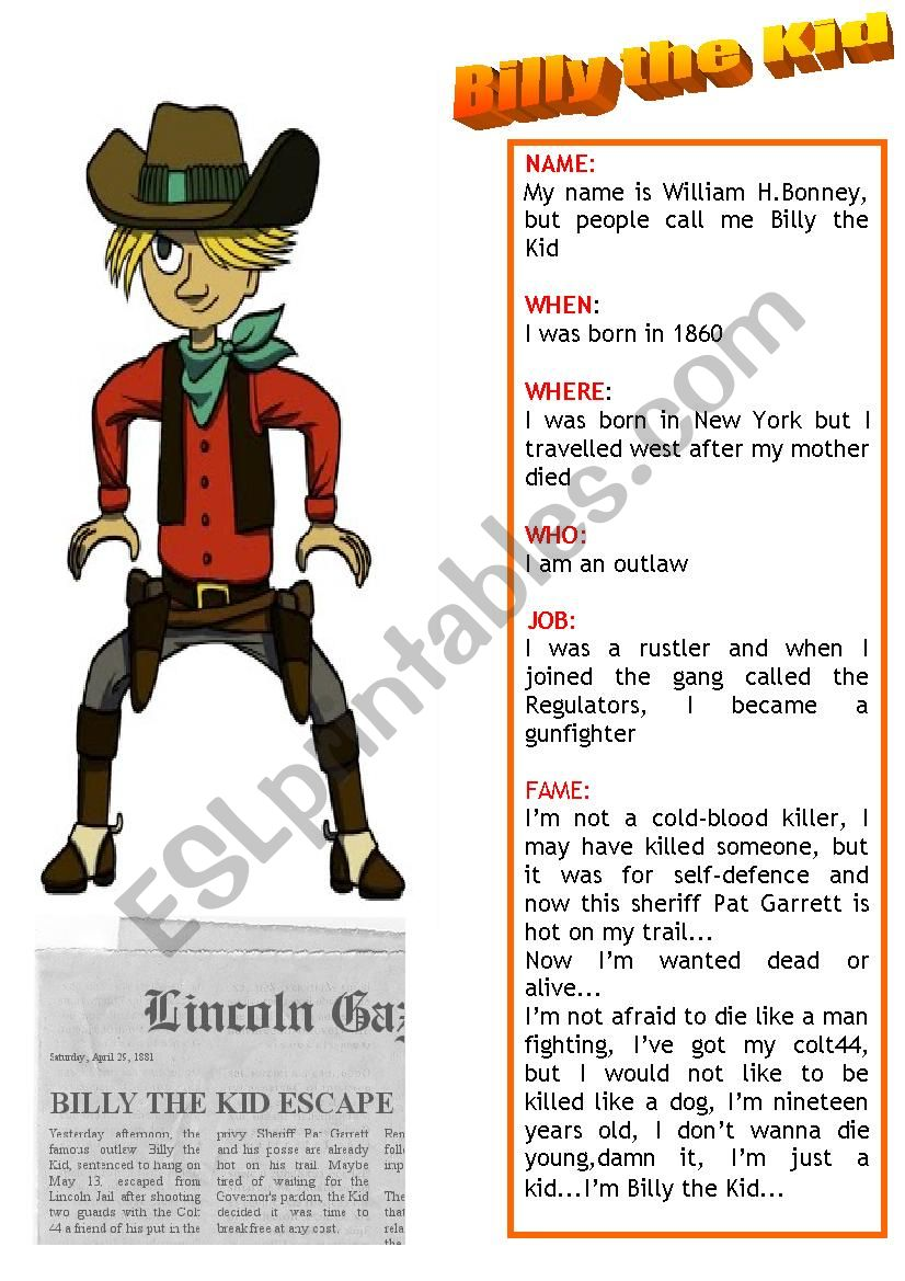 Billy The Kid Esl Worksheet By Brpadali Discover the meaning of the ren name on ancestry®. billy the kid esl worksheet by brpadali