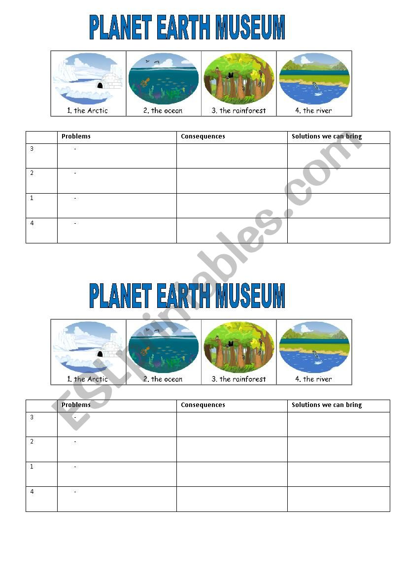 Worksheets Planet Earth Worksheets english worksheets planet earth museum worksheet