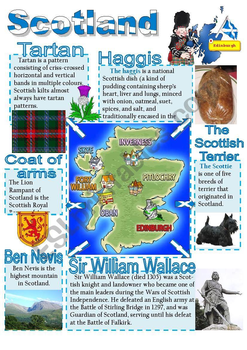 Scotland poster 3 worksheet