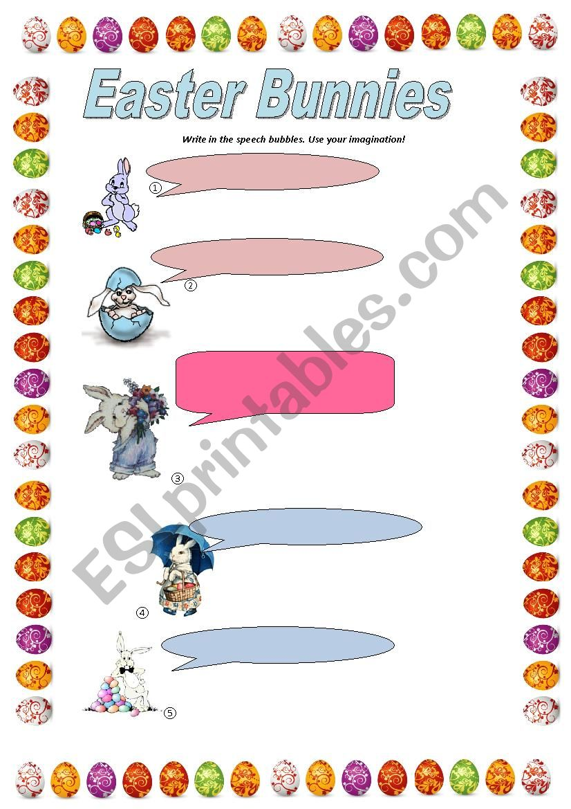 Easter Bunnies worksheet