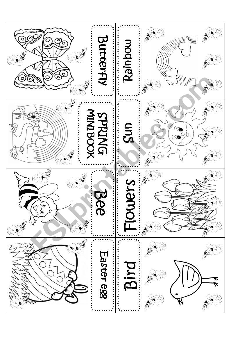 SPRING MINI BOOK worksheet