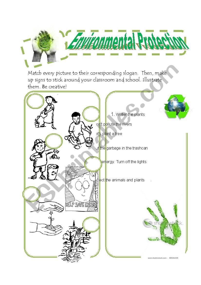 worksheet Environmental Signs Worksheet english worksheets environmental protection worksheet