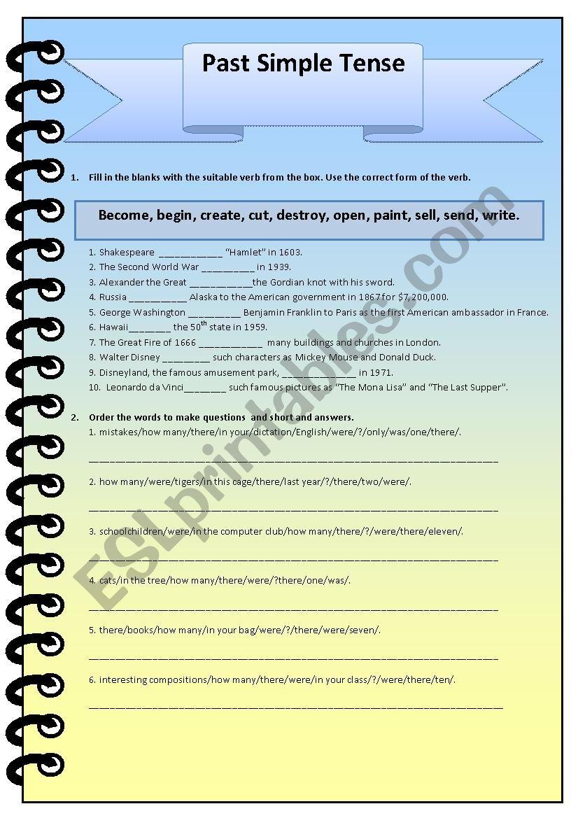 Past Simple - ESL worksheet by nadin_123