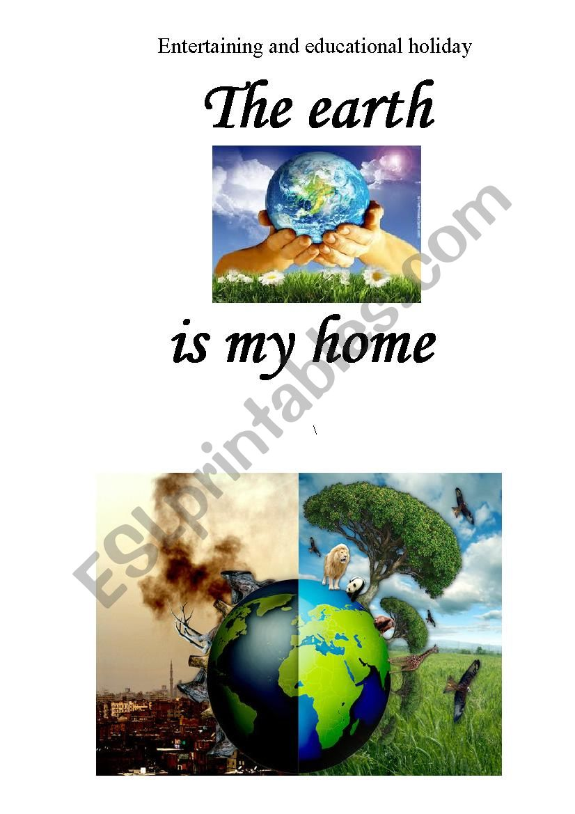 EARTH is my home worksheet