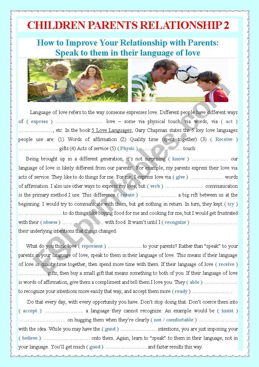 CHILDREN PARENTS RELATIONSHIP 2