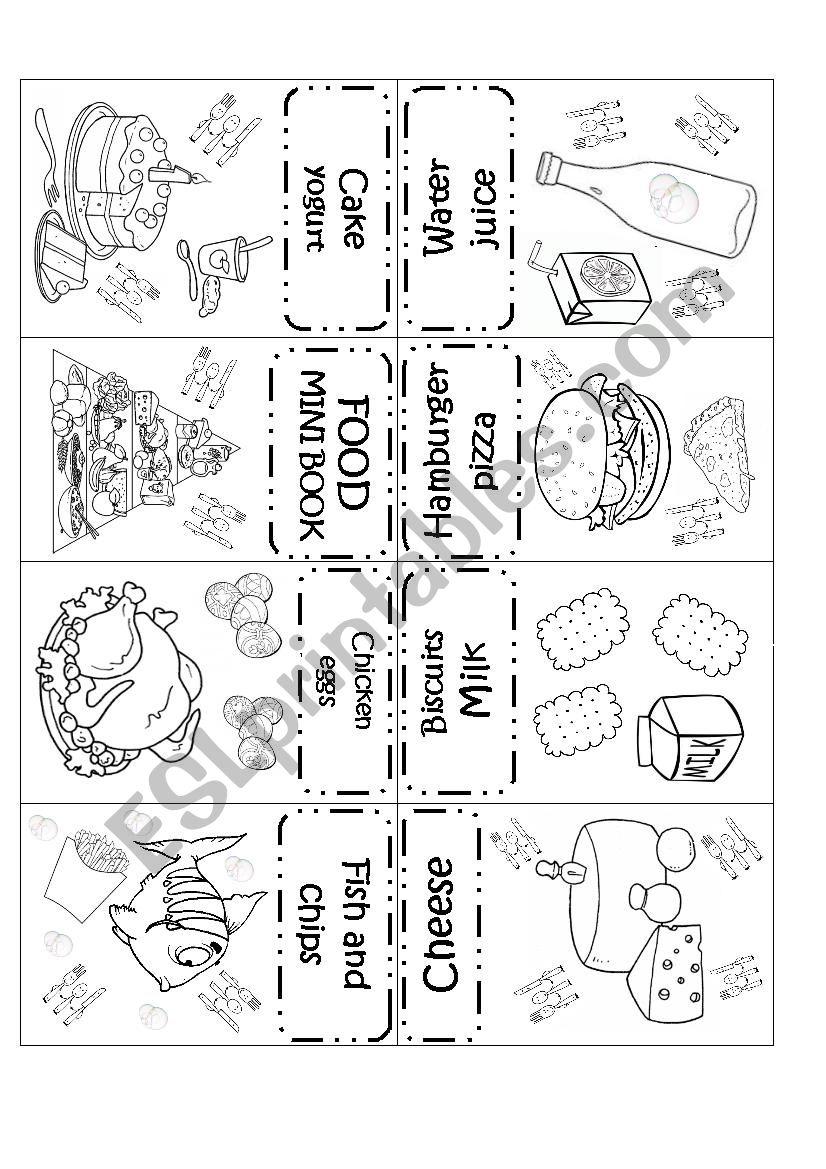 FOOD MINI BOOK worksheet