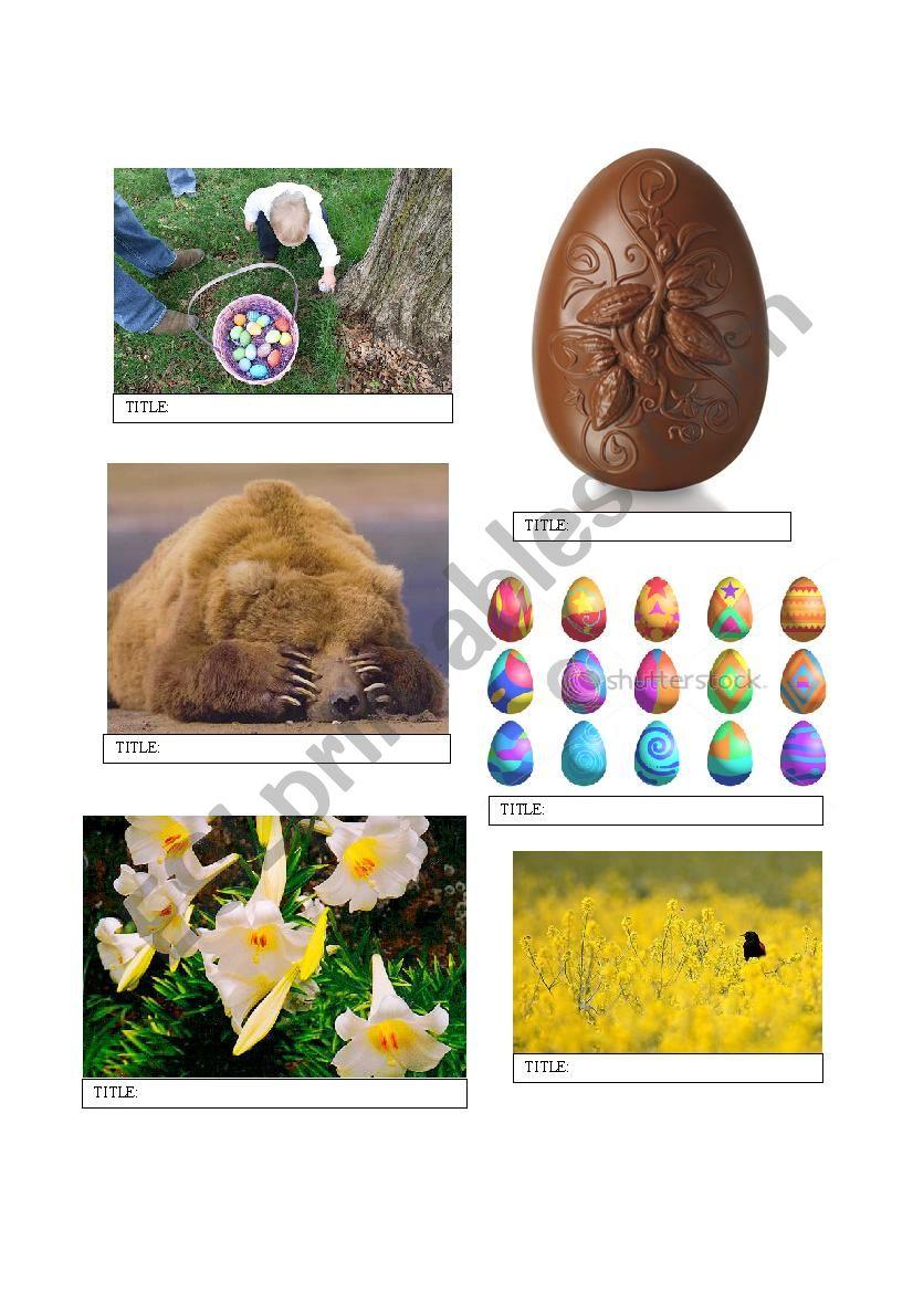 Easter Lesson Plan worksheet