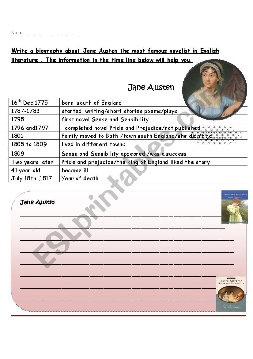biography - ESL worksheet by roman88