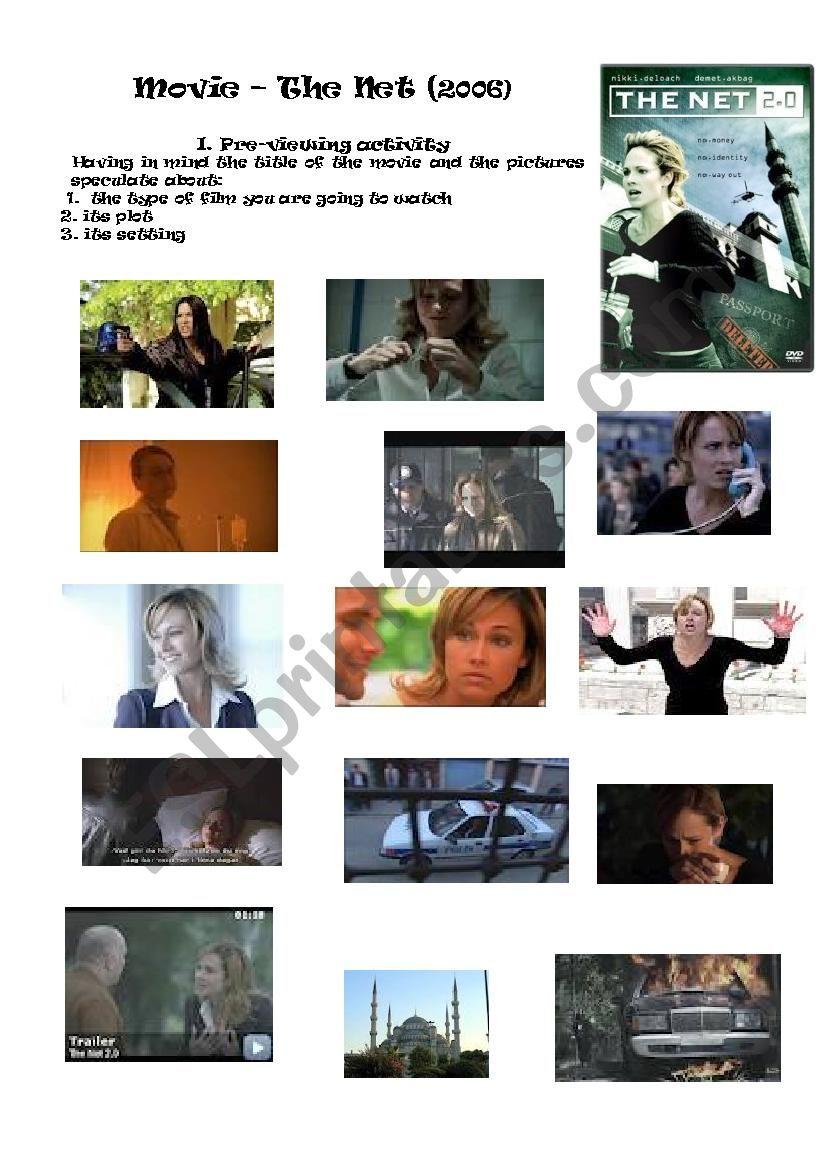 The Net Film worksheet