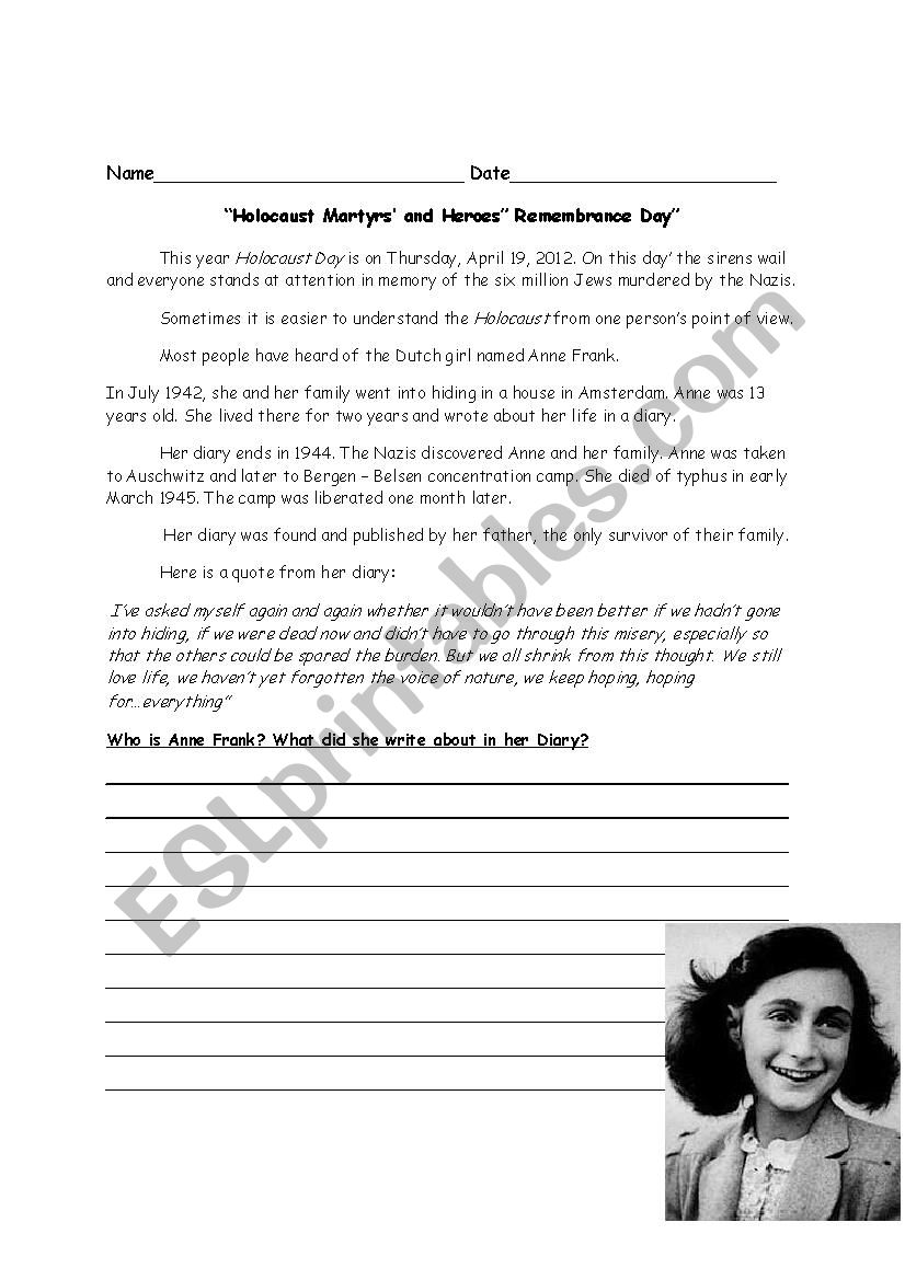 Holocaust Reading Comprehension Worksheet Nidecmege [ 1169 x 826 Pixel ]