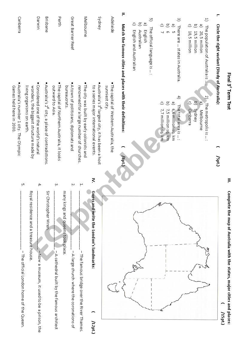 Belize country study worksheet