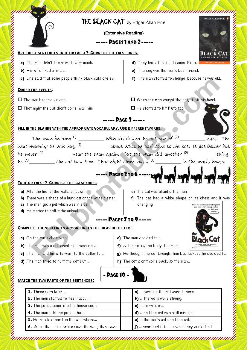 The Black Cat (Reading activities+correction)