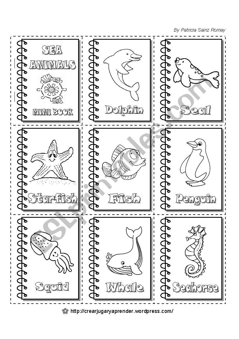 SEA ANIMALS - MINI BOOKS (2 of 6)