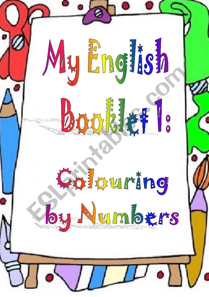 My English booklet 1: Colouring by numbers (1-4)