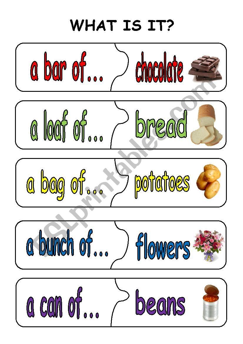quantifiers puzzle pieces1 worksheet