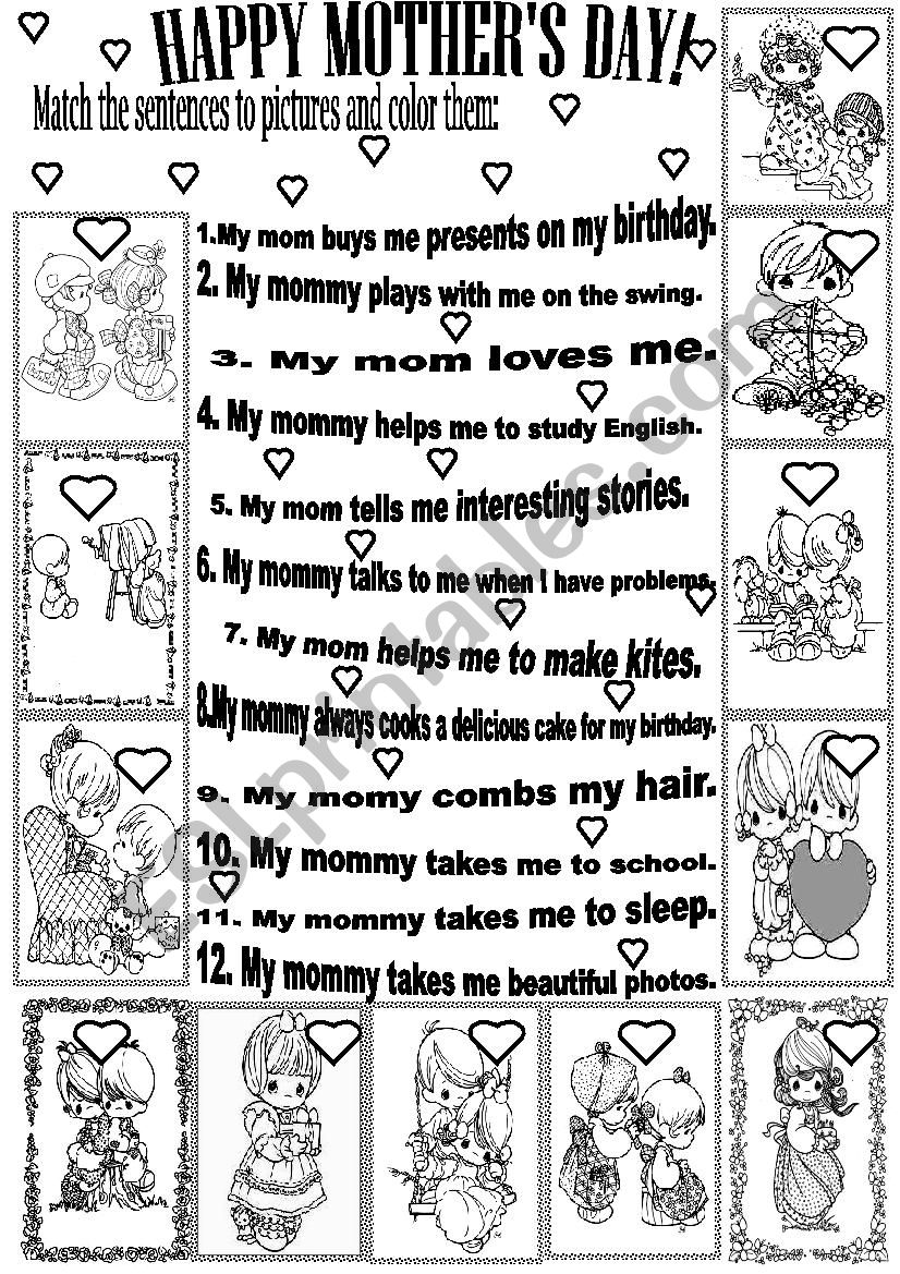 HAPPY MOTHER´S DAY! worksheet