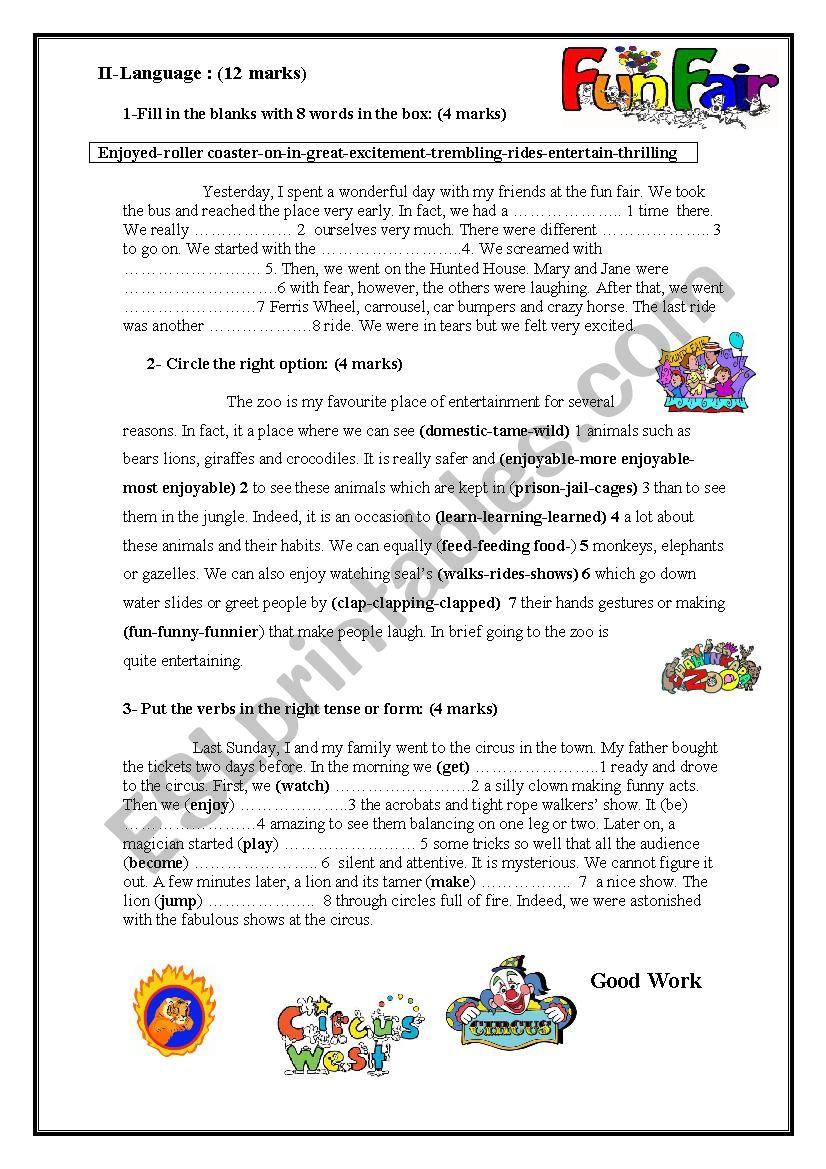 Mid term test N3 9th form worksheet