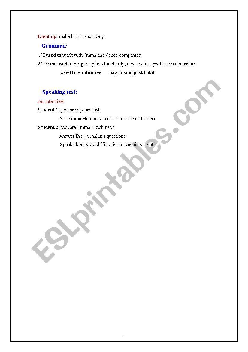 lesson 22 success story lesson plan - ESL worksheet by tantouna