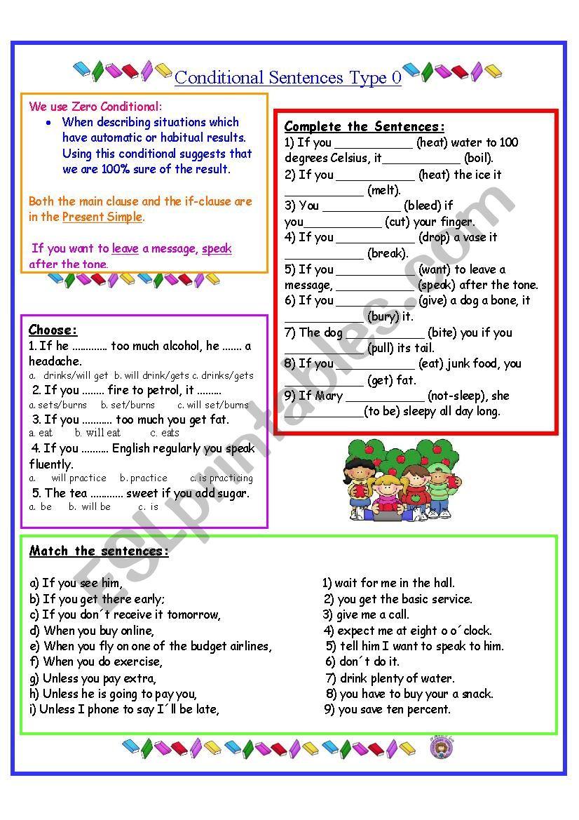 Conditionals Type 0  worksheet