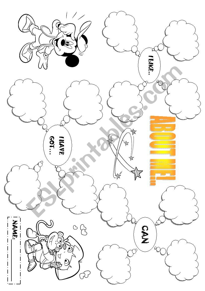 About me! worksheet