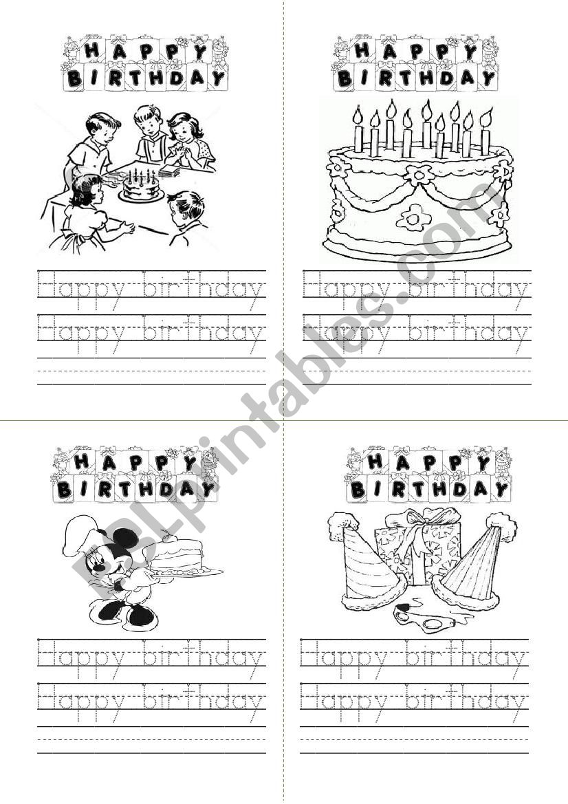 birthday card esl worksheet by berezowski. Black Bedroom Furniture Sets. Home Design Ideas