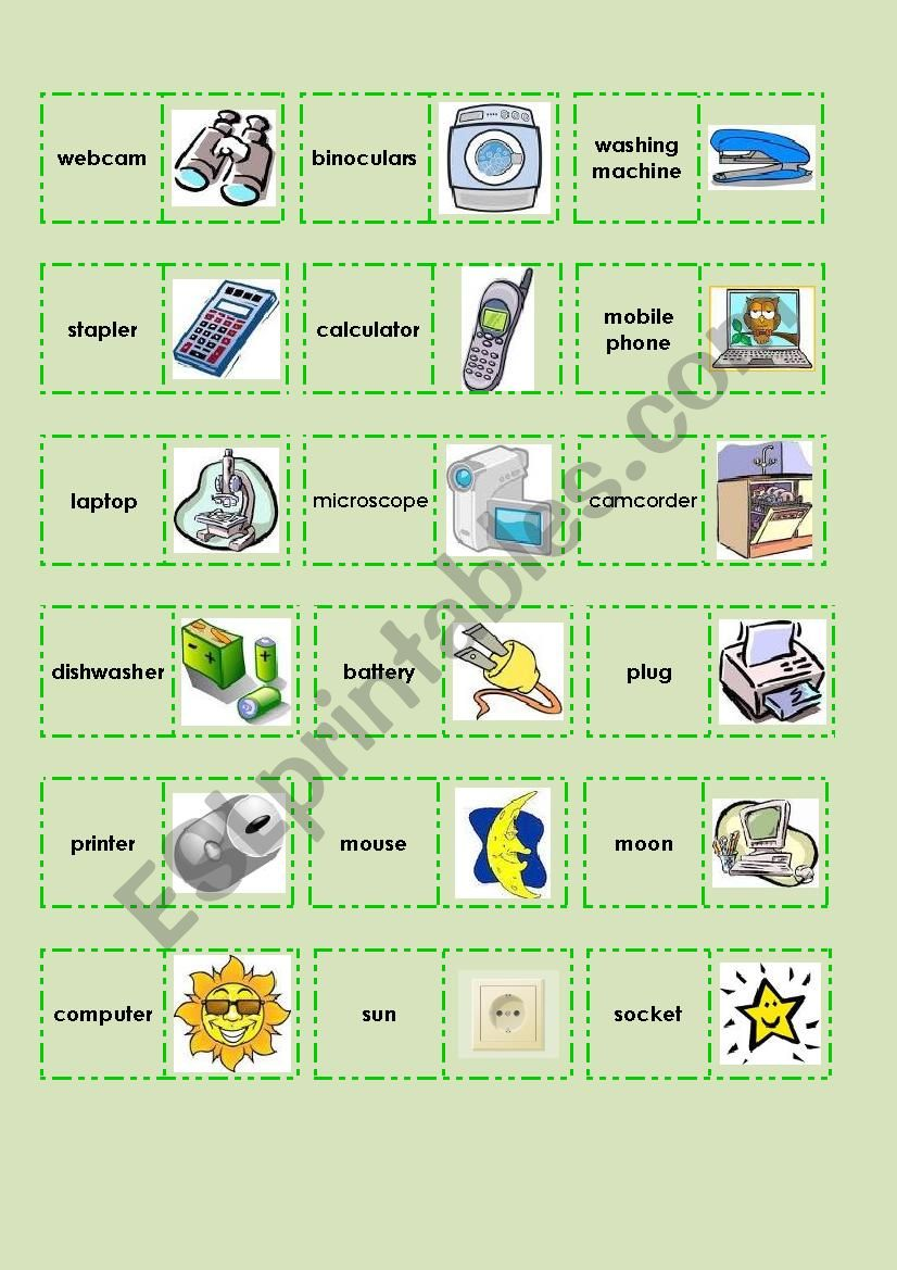 science and technology domino esl worksheet by the globe. Black Bedroom Furniture Sets. Home Design Ideas