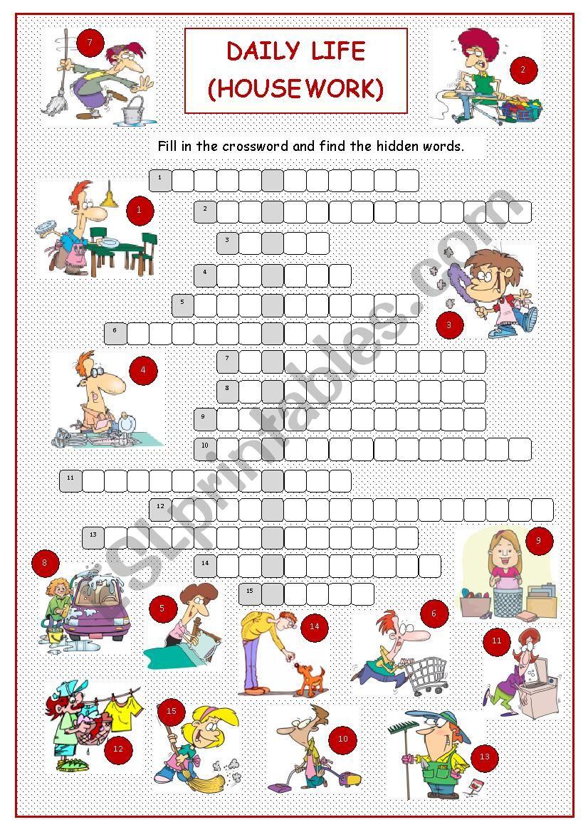 Daily Life (Housework Crossword)