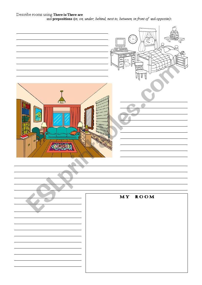 Describing rooms worksheet