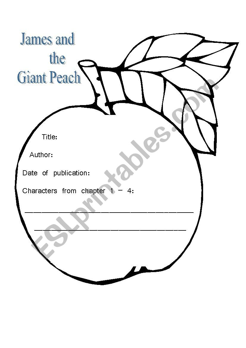 English Worksheets James And The Giant Peach