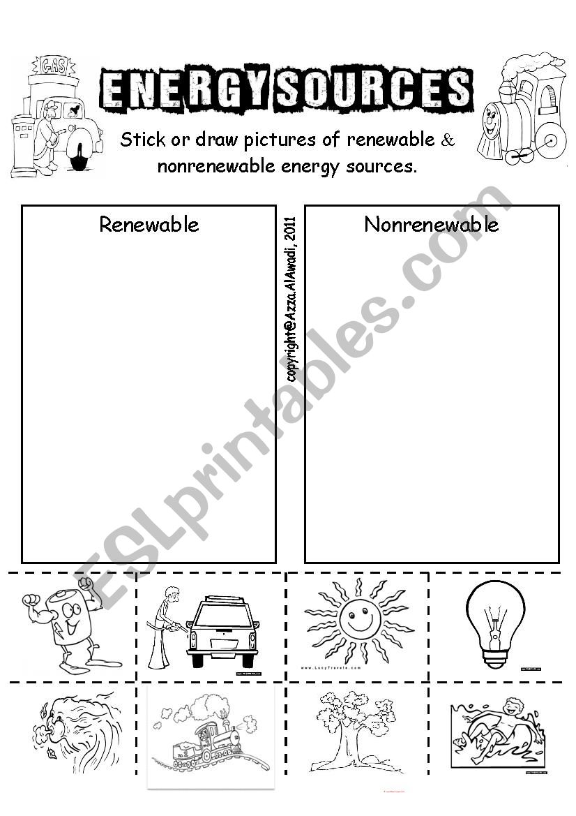 Energy Sources worksheet