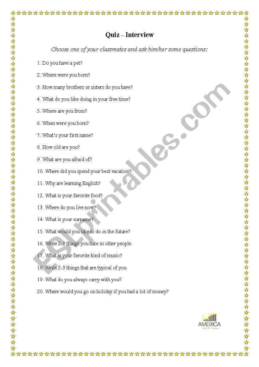 Icebreaker worksheet worksheet