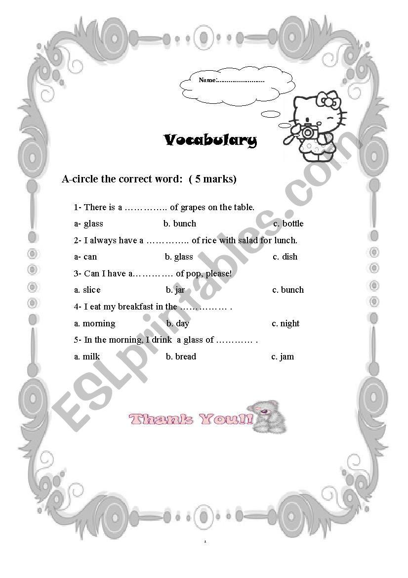 Food quantities esl worksheet by funkystyle food quantities worksheet ibookread Download