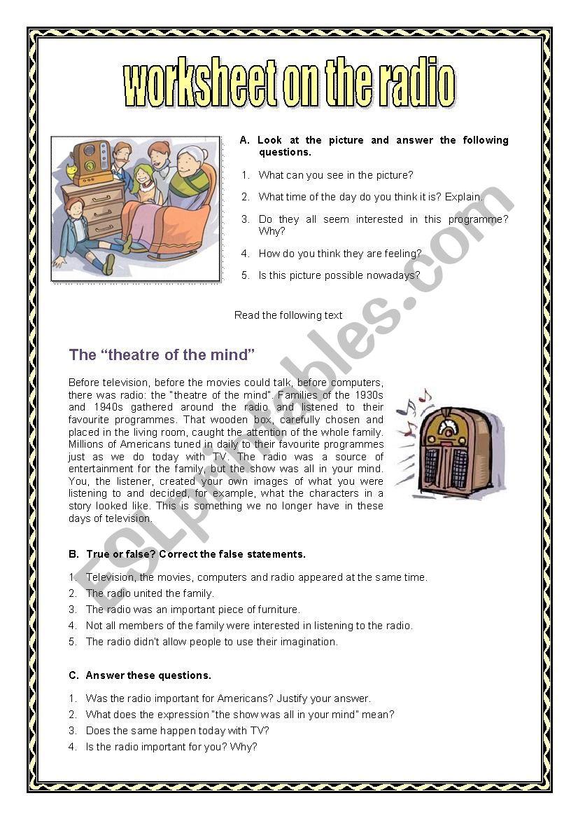 Radio worksheet