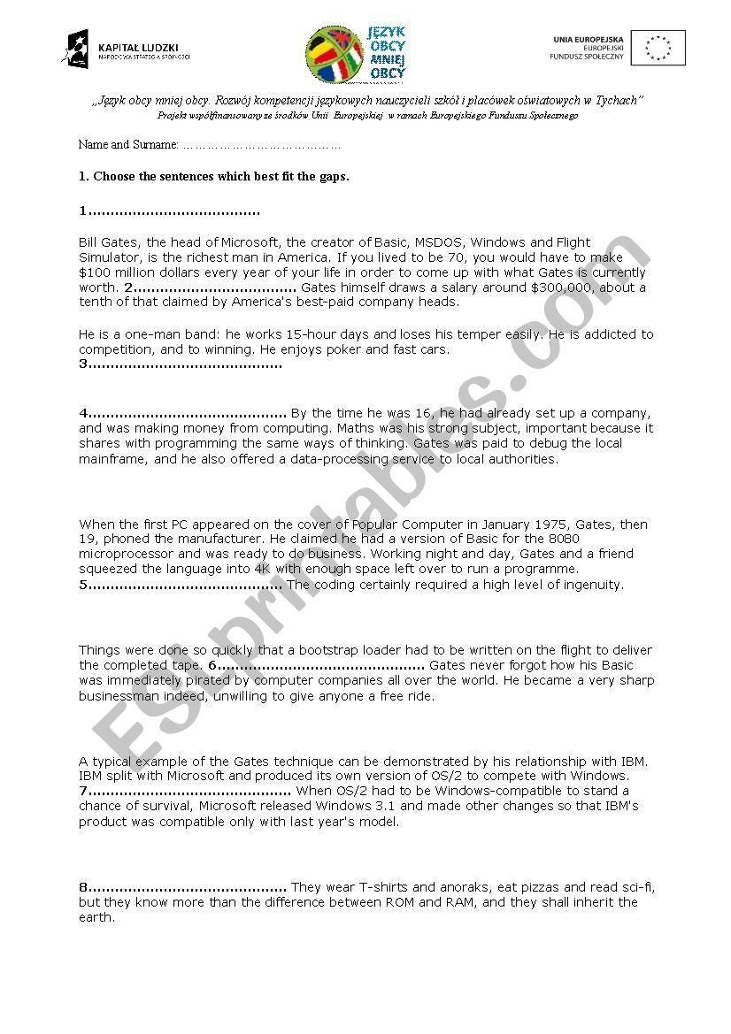 FCE mini exam  - ESL worksheet by fericzka