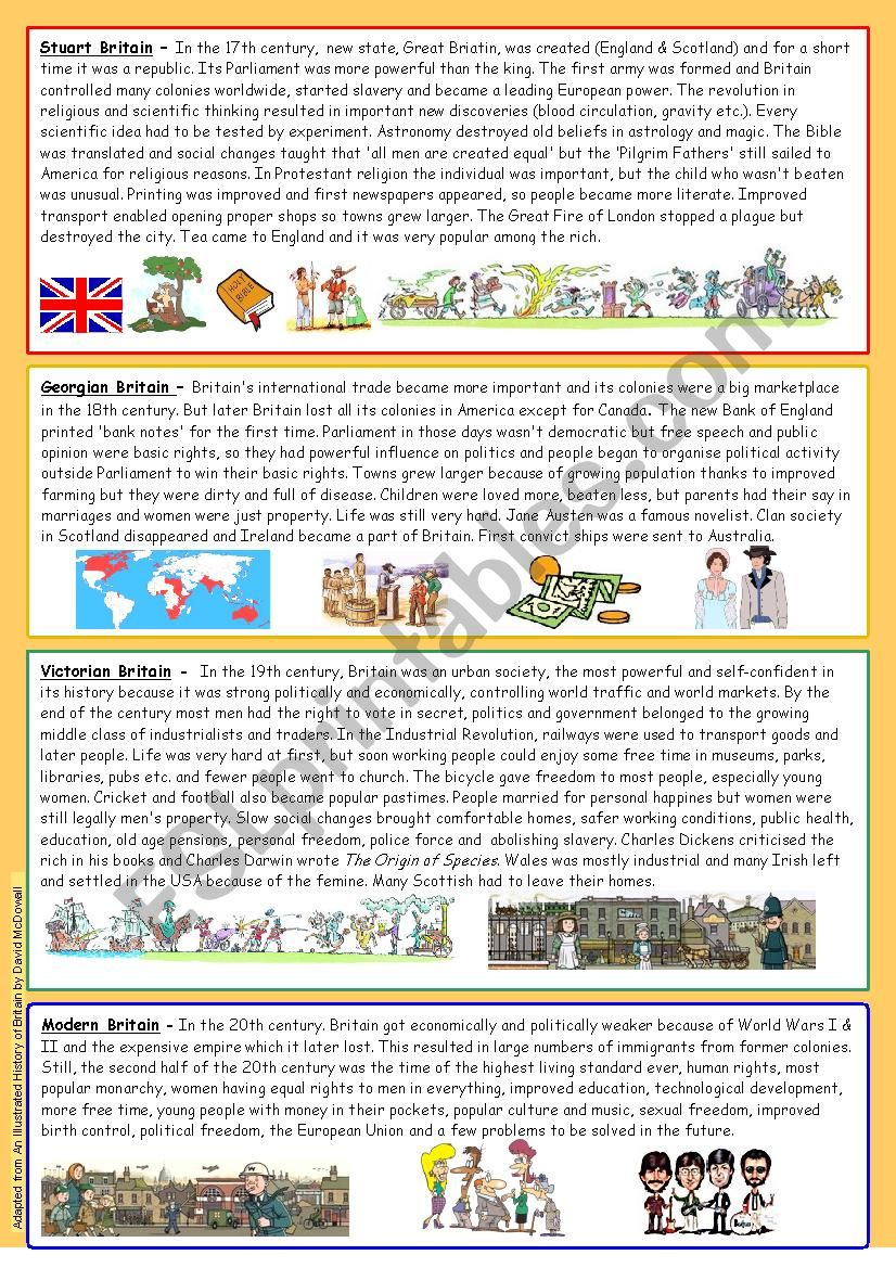 Short history of Britain Part 1 (reuploaded) - editable