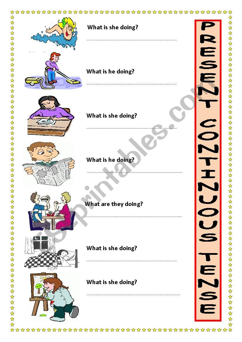 Am Is Are Ving Esl Worksheet By Servy
